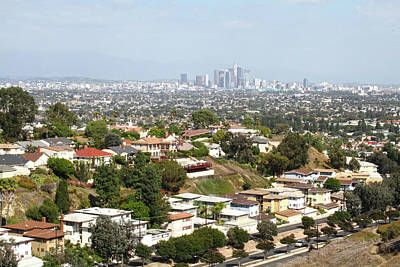 Photograph - Sprawling Homes To Downtown Los Angeles by Ken Wood