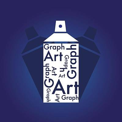 Photograph - Graph Art Spray Can by Sheila Mcdonald