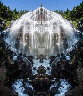 Mountain View Photograph - Spray Falls Reflection by Pelo Blanco Photo