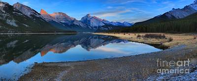 Photograph - Spray Lake Last Light by Adam Jewell