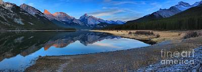 Photograph - Spray Lake Sunset Panorama by Adam Jewell