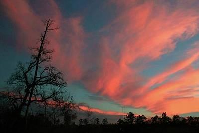 Digital Art - Spray Of Clouds Sunset by Ellen Barron O'Reilly