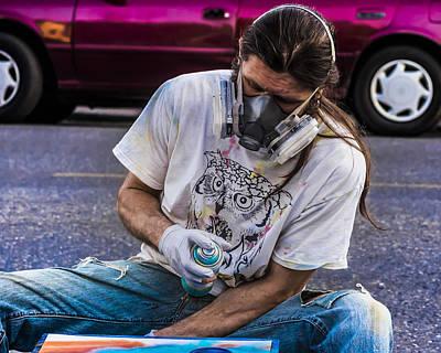 Spray Paint Artist Art Print