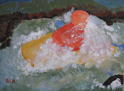 Art Print featuring the painting Spray by Sandy McIntire