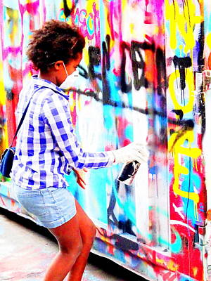 Celebrity Watercolors - Spray Those Walls In Paris by Funkpix Photo Hunter