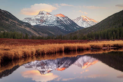 Photograph - Spread Eagle Peak Sunset by Johnny Adolphson