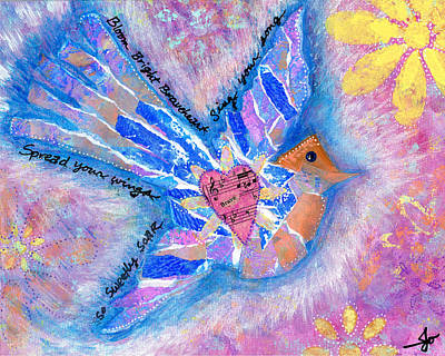 Spread Your Wings Braveheart Original by Julia Ostara From Thrive True dot com