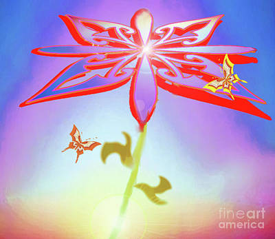Painting -  Spread Ike A Butterflywer by Belinda Threeths