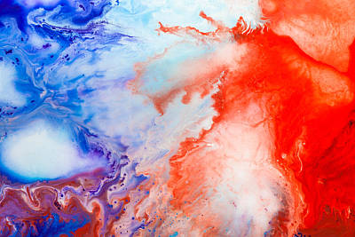 Spreading Love  - Abstract Colorful Mixed Media Painting Art Print by Modern Art Prints