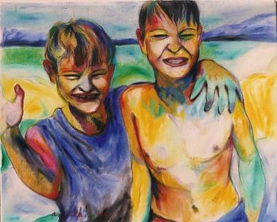Painting - Sprecher Boyz by Mykul Anjelo
