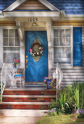 Photograph - Spring - Door -  A Bit Of Blue  by Mike Savad