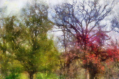Old Time Quilts Mixed Media - Spring 2015 Trees Pa 02 by Thomas Woolworth