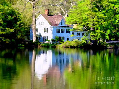 Digital Art - Spring Afternoon At The Lake by Ed Weidman