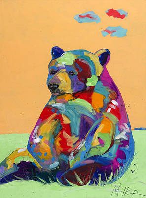 Sitting Bear Painting - Spring Afternoon by Tracy Miller
