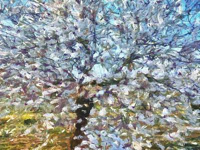 Painting - Spring Almond Blossom by Taiche Acrylic Art