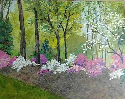 Painting - Spring Along Tega Cay Drive by Phiddy Webb