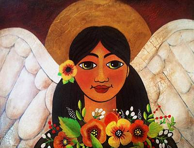 Painting - Spring Angel by Jan Oliver-Schultz