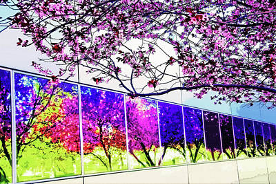 Spring Architectural Abstract Art Print by Steve Ohlsen
