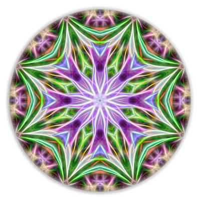 Digital Art - Spring Arrival Mandala by Beth Sawickie