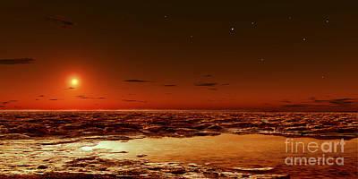Warm Digital Art - Spring Arrives Near The Martian Polar by Frank Hettick