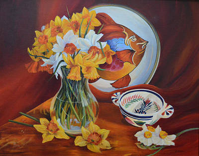 Painting - Spring Art Deco by Beatrice Cloake