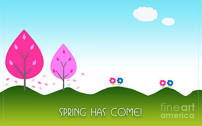 Digital Art - Spring As Come Card by Scott Parker