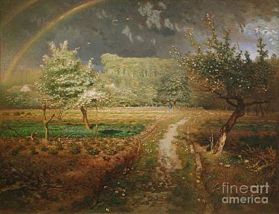 1814 Painting - Spring At Barbizon by Jean Francois Millet