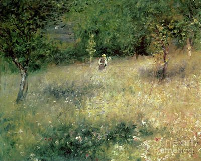 Meadow Painting - Spring At Chatou by Pierre Auguste Renoir