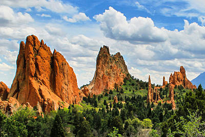 Spring At Garden Of The Gods Art Print