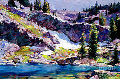 Spring At Jade Lake Art Print by David Lloyd Glover