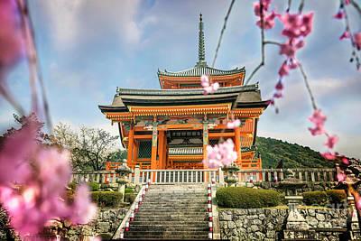 Photograph - Spring At Kiyomizudera by Karen Jorstad