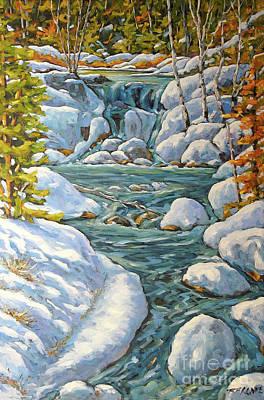 Montreal Painting - Spring At Last By Richard Pranke by Richard T Pranke