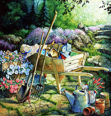 Garden Painting - Spring At Last by Hanne Lore Koehler