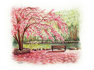 Painting - Spring At Lithia Park by Lori Taylor