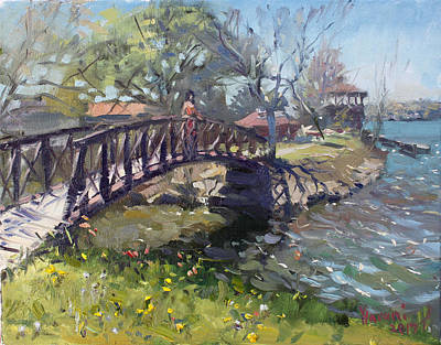 Flower House Painting - Spring At Niawanda Park by Ylli Haruni