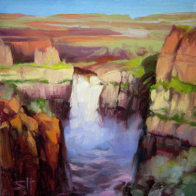 Countryside Painting - Spring At Palouse Falls by Steve Henderson