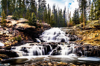 Photograph - Spring At Provo River Falls by TL  Mair