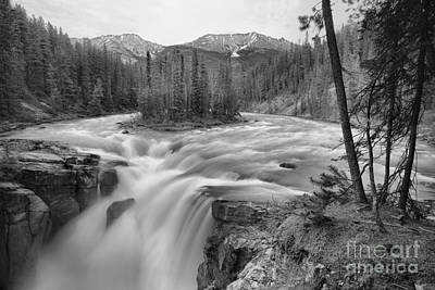 Photograph - Spring At Sunwapta Falls Black And White by Adam Jewell