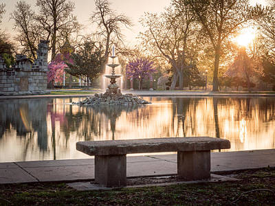 Photograph - Spring At The Fountain Pond by Scott Rackers