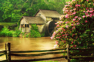 Spring At The Mill Art Print