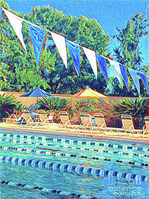 Photograph - Spring At The Pool by Audrey Peaty
