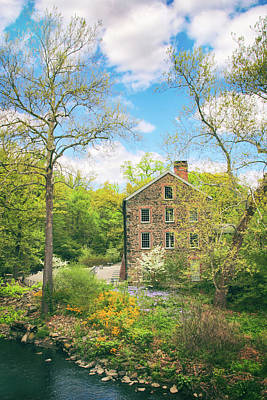 Photograph - Spring At The Stone Mill  by Jessica Jenney