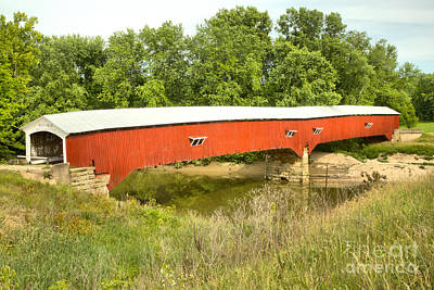 Photograph - Spring At The West Union Covered Bridge by Adam Jewell