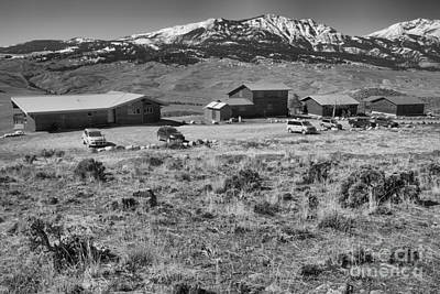 Photograph - Spring At The Yellowstone Forever Field Campus Black And White by Adam Jewell