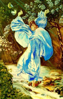 Art Print featuring the painting Spring - Awakening by Henryk Gorecki