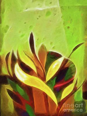 Sprout Painting - Spring Awakening by Lutz Baar