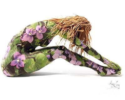 Violet Nude Sculpture - Spring Awakens by Adam Long