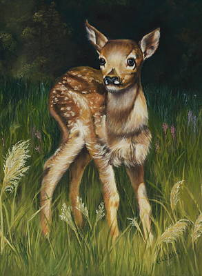Spring Baby Fawn Art Print