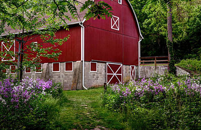 Photograph - Spring Barn by Ann Bridges