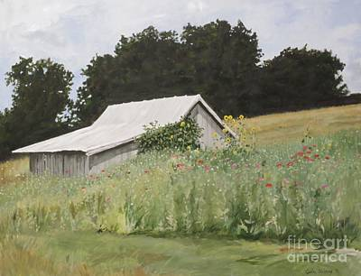 Painting - Enveloped By Wildflowers by Carla Dabney